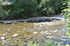 In Wattwil beim Zufluss des Schmidenbachs plätschert die Thur leise vor sich hin. (Bild: Sabine Schmid)