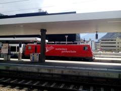 Die Matterhorn Gotthard Bahn. (Bild: Bruno Ringgenberg (Visp, 18. August 2018))