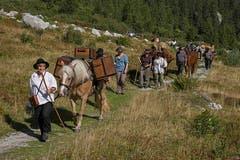 Säumer-Wanderwoche Sprinz-Route. (Bild: Franz Krummenacher (Grimsel, 22. August 2018))