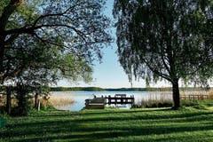 Seeidylle beim Restaurant Frosch & Fisch in Himmelpfort (Bild: .)