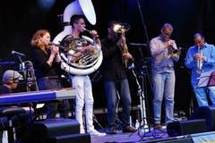 Die Street Band der Musikschule Zug hatte am Freitagabend ebenfalls einen Auftritt. (Bild: Werner Schelbert (Zug, 24. August 2018))