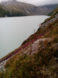 Faszinierende Landschaft am Stausee Mattmark bei Saas Almagell. (Bild: Bruno Ringgenberg, Mattmark, Saas Almagell, 25. August 2018)