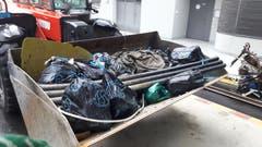 Die Entsorgung St.Gallen kümmerte sich um den gesammelten Abfall. (Bild: PD)
