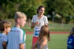 Die Schweizer Vizeeuropameisterin Fabienne Schlumpf trainierte ebenfalls mit den Zuger Jugendlichen. (Bild: Maria Schmid (Zug, 28. August 2018 ))