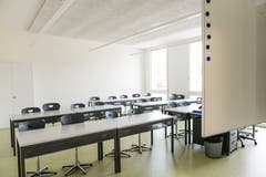 Eins der neuen Klassenzimmer. (Bild: Roger Grütter, 27. August 2018)