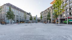 Die «grosse Weite» auf dem ausgeräumten Kornhausplatz. (Bild: Beat Belser - 22. August 2018)