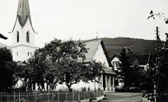 Die erste katholische Buchser Kirche an der Pfrundgutstrasse.