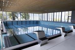 Das 25-Meter-Schwimmbecken.