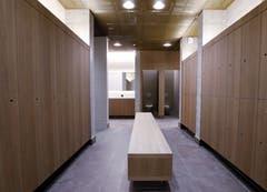 Einer der Garderoben im Wellnessbereich.