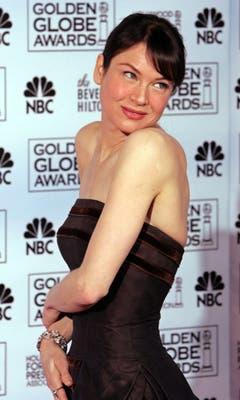 Auch sie ist dünn, wenn sie nicht gerade für eine Rolle an Gewicht zulegen muss. Schauspielerin Renée Zellweger. (Bild: Keystone)