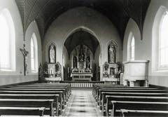 Das Innere des kleinen damaligen Gotteshauses.