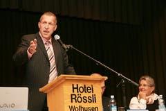 Konrad Graber spricht im Oktober 2007 bei der Delegiertenversammlung der CVP Kanton Luzern in Wolhusen als gewählter Ständerat. (Bild: Archiv LZ)