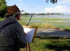 Ein Süditaliener malt das Städtchen am Bodensee. (Bild: Doris Sieber)