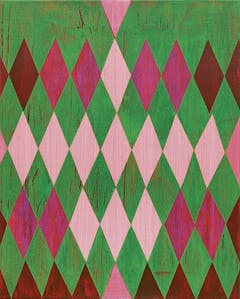 Grafisch exakt, farblich frei. Unregelmässigkeiten sind gewollt. Arbeit von Davix in der Galerie Vitrine in Luzern. (Bild: Davix)