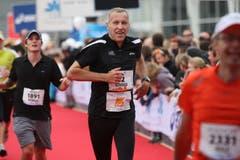 Konrad Graber läuft im Oktober 2009 am 3. Lucerne Marathon mit. Damit ist er einer von insgesamt rund 8800 Teilnehmern.