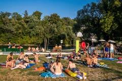 Hier gibt es auch Liegeplätze. (Bild: Philipp Schmidli (Luzern, 2. August 2018))