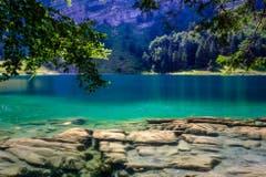 Karibisch blaues Wasser am Seealpsee. (Bild: Luciano Pau)