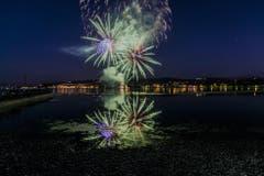 Das 1. August-Feuerwerk in Arbon. (Bild: Regina Rosin)