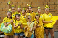 Im Lager der Spono Eagles Nottwil in Küssnacht am Rigi präsentiert sich das Team «Sunny Honey». (Bild: Lukas Lipp)