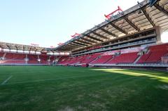 Das Georgios-Karaiskaki-Stadion von Olympiakos. Hier wird am Donnerstag das Qualifikationsspiel stattfinden. (Bild: Martin Meienberger, Olympiakos, 8. August 2018)