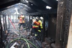 Der ausgebrannte Dachstock. (Bild: Feuerwehr Stadt Luzern)