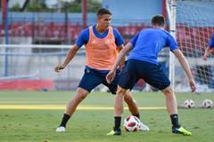 Filip Ugrinic tritt gegen Silvan Sidler an. (Bild: Martin Meienberger, Olympiakos, 8. August 2018)