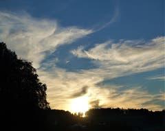 Sonnenuntergang über dem Buttenberg. (Bild: Josef Habermacher, 10. September 2018)