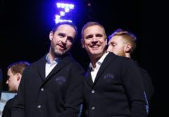 Assistenztrainer Josh Holden (links) und Cheftrainer Dan Tangnes