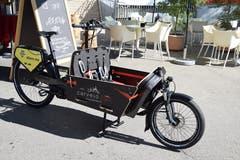 So sehen die Cargo-Bikes von Wil aus: Zwischen Lenker und Vorderrad hat es einen Laderaum. (Bild: Nicola Ryser)