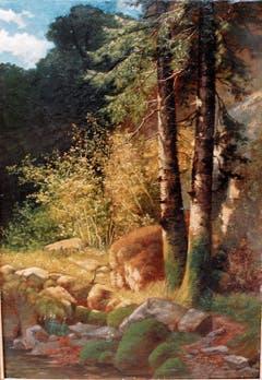 Stimmungsbild aus dem Kaltbrunnental (Jura) von Jakob Lorenz Rüdisühli.