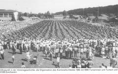 Das kantonale Turnfest in Ruswil, 1982. (Bild: PD)