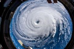 So sieht «Florence» von der Internationalen Raumstation aus. Aufgenommen hat das Bild der deutsche Astronaut Alexander Gerst. (Bild: Alexander Gerst/Nasa)