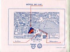 Das Hotel «Du Lac »und der Floragarten lagen an der Bahnhofstrasse. (Bild: Hotelarchiv Schweiz)