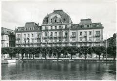 Ein Luzerner Musikdirektor soll das Zimmer 38 im Hotel Du Lac gemietet haben... (Bild: Hotelarchiv Schweiz)