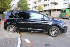An den Fahrzeugen entstand grosser Sachschaden. (Bild: Stadtpolizei St.Gallen)