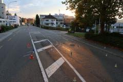 Der Unfall ereignete sich auf der Fürstenlandstrasse auf Höhe Lerchenfeldstrasse. (Bild: Stadtpolizei St.Gallen)