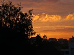 Abendrot in Gossau. (Bild: Claudine Germann)