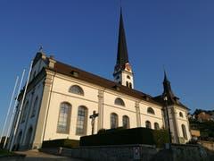 Die Kirche St. Martin in Malters. Sie hat den zweithöchsten Kirchturm (97,56 m) in der Schweiz nach dem Berner Münster. (Bild: Urs Gutfleisch)