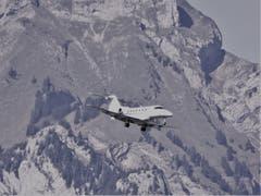 Pilatus PC-24 im Landeanflug auf Buochs. (Bild: Hans Steiner (Stans, 20. September 2018))