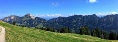 Die Westseite des Hohen Kasten von der Alp Sigel aus gesehen. (Bild: Toni Sieber)