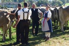 An der Viehschau in St. Georgen, St. Gallen. (Bild: Susann Albrecht)