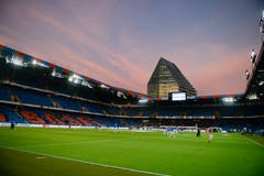 Abendstimmung im Stadion St. Jakob-Park in Basel. (Bild: Daniela Frutiger/freshfocus)