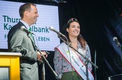 Apfelkönigin Marion Weibel erzählt von ihrem Amtsjahr. Bild: Andrea Stalder