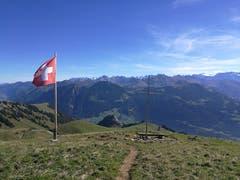 Der Aussichtspunkt auf dem Schönbüel. (Bild: Urs Gutfleisch (Schönbüel, 26. September 2018))