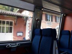 In der Centovallibahn. Die Bahn fährt die Strecke Domodossola -Locarno. (Bild: Bruno Ringgenberg (Orselina, 26. September 2018))