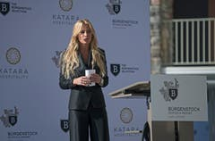 Moderatorin Christa Rigozzi am Grand Opening des Bürgenstock Hotels & Resort Lake Lucerne. (Bild: Corinne Glanzmann (Bürgenstock, 28. September 2018))