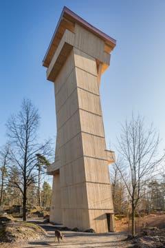Auf dem 3. Rang in der «Region Zentrum»: Der Aussichtsturm im Natur- und Tierpark Goldau. (Bild: PD)