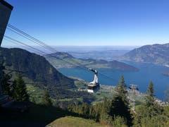Tolle Aussicht von der Bergstation der Luftseilbahn Klewenalp auf den Vierwaldstättersee. (Bild: Urs Gutfleisch (Klewenalp, 27. September 2018))