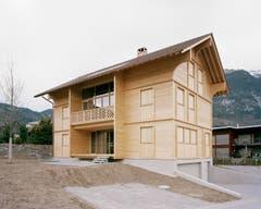 Auf dem 2. Rang in der «Region Zentrum»: Das Einfamilienhaus «Mondhaus» in Alpnach. (Bild: PD)