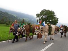Alpabzug in Oberdorf (Bild: Claudia Scheubert, 29. September 2018))